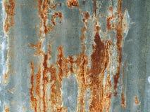 Oude roestige gegalvaniseerde achtergrond en textuur Royalty-vrije Stock Foto's