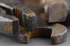 Oude roestige hulpmiddelen Stock Foto's