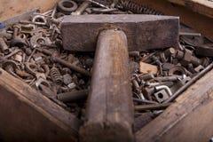 Oude roestige hummer Royalty-vrije Stock Afbeeldingen