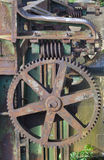 Oude roestige machines stock foto