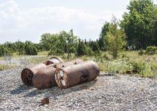 Oude roestige mariene mijnen Royalty-vrije Stock Afbeelding