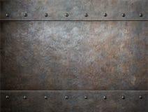 Oude roestige metaalachtergrond Stock Afbeeldingen