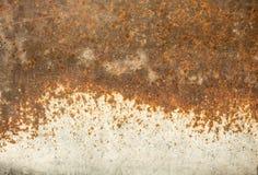 Oude roestige metaalachtergrond Royalty-vrije Stock Afbeeldingen