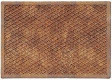 Oude roestige metaalplaat Stock Foto