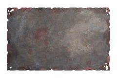 Oude roestige metaalplaat Stock Foto's