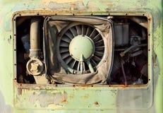 Oude roestige motor Stock Afbeeldingen