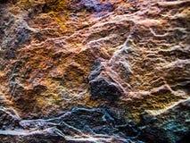 Oude roestige oppervlakte van staal met abstract patroon Royalty-vrije Stock Foto