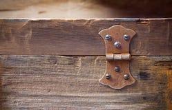 Oude roestige scharnier Stock Afbeeldingen