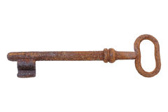 Oude Roestige Sleutel royalty-vrije stock afbeeldingen