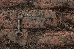 Oude roestige sleutel, Royalty-vrije Stock Afbeeldingen