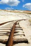 Oude roestige spoorweg Royalty-vrije Stock Foto
