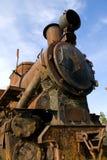 Oude roestige trein royalty-vrije stock afbeeldingen