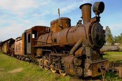 Oude roestige trein Stock Foto