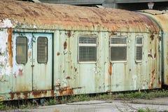 Oude roestige treinwagen Royalty-vrije Stock Foto