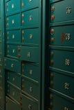 Oude roestige veilige cellen Stock Foto