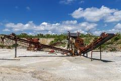 Oude roestige verpletterende machines royalty-vrije stock foto