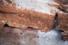 Oude roestige zinkachtergrond Stock Foto's