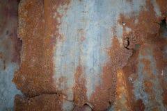 Oude roestige zinkachtergrond Royalty-vrije Stock Fotografie