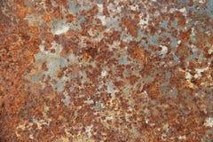 Oude roestoppervlakte, ijzertextuur Stock Foto's