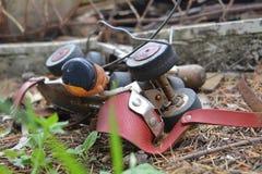 Oude rolschaatsen Stock Afbeeldingen