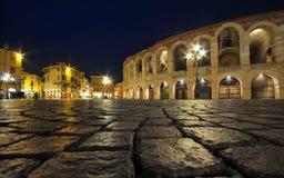 Oude roman amphitheatreArena in Verona, Italië Stock Afbeelding