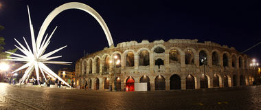 Oude roman amphitheatreArena in Verona, Italië Royalty-vrije Stock Afbeeldingen