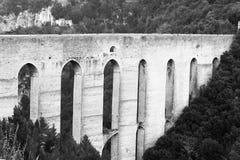 Oude roman brug Stock Foto's
