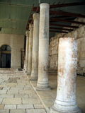 Oude Roman Cardo-straat.  Jeruzalem stock foto's