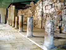 Oude Roman Cardo-straat.  Jeruzalem Stock Afbeelding