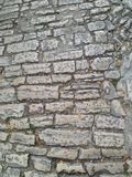Oude Roman keiweg royalty-vrije stock foto's