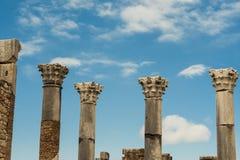 Oude roman kolommen royalty-vrije stock afbeelding