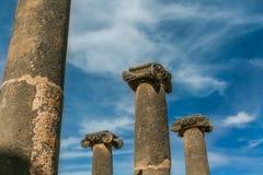 Oude Roman kolommen Stock Foto