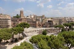 Oude Roman ruïnes stock afbeeldingen