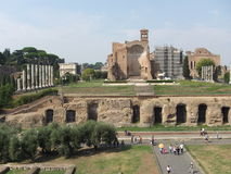 Oude Roman ruïnes Royalty-vrije Stock Afbeeldingen