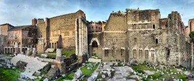 Oude Roman ruïnes in Rome, ROME Royalty-vrije Stock Afbeeldingen