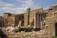 Oude roman ruines royalty-vrije stock afbeelding