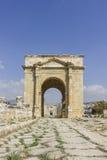Oude Roman stad van Gerasa moderne Jerash Royalty-vrije Stock Afbeeldingen