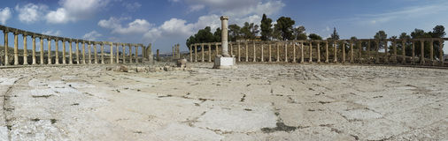 Oude Roman stad van Gerasa moderne Jerash Stock Foto