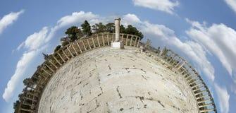 Oude Roman stad van Gerasa moderne Jerash Royalty-vrije Stock Fotografie