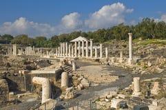 Oude Roman uitgravingen in Israël stock foto