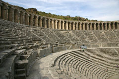 Romein amphitheatre Stock Afbeelding