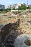 Oude Romein ruïneert Thessaloniki Stock Foto's