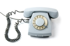Oude roterende telefoon Stock Foto's