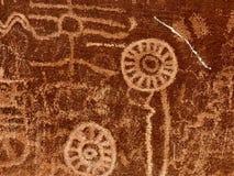 Oude Rotstekeningen, Vallei van het Park van de Brandstaat, Nevada, de V.S. royalty-vrije stock afbeelding