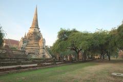 Oude ruïne van Wat Phra Sri Sanphet Stock Afbeeldingen