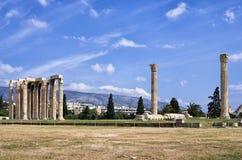 Oude ruïnes in Athene, Griekenland Stock Afbeeldingen