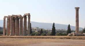Oude ruïnes in Athenes, Griekenland Stock Afbeelding