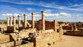 Oude ruïnes dichtbij Pathos royalty-vrije stock fotografie