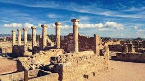 Oude ruïnes dichtbij Pathos royalty-vrije stock foto