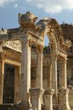 Oude ruïnes in Ephesus royalty-vrije stock afbeeldingen